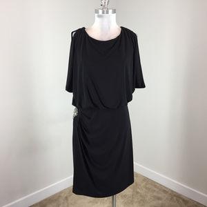 Eliza J Xl 12 14 Black Blouson Dress Embellished